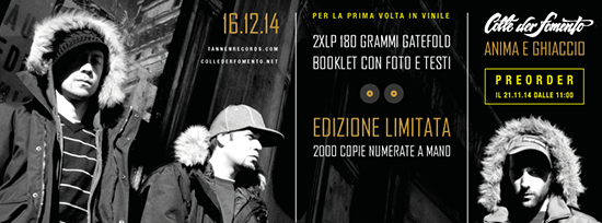 """IN ACCORDO CON TANNEN RECORDS STAMPIAMO IN VINILE """"ANIMA E GHIACCIO""""(2007)"""